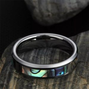 Jewelry - Abalone inlay Tungsten ring